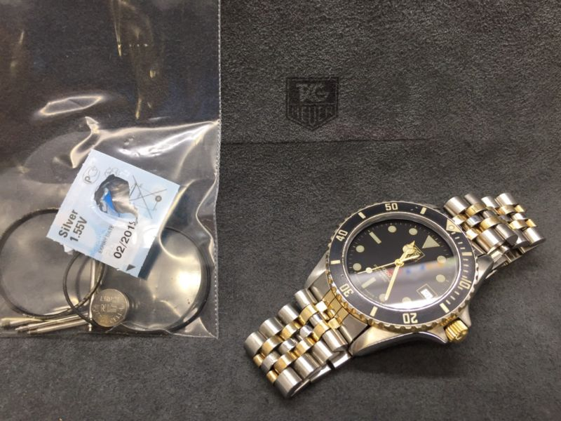 huge discount 65f47 39ea3 Beautiful Vintage TAG HEUER 1000 Pro Two-tone Gold 980.029 980.020  Submariner