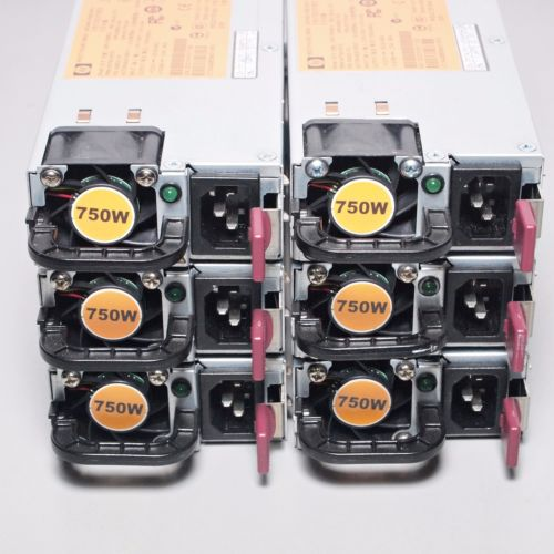 Lot of 6 - HP 750W 12V Server Power Supply DPS-750RB HSTNS-PD18 506822-101